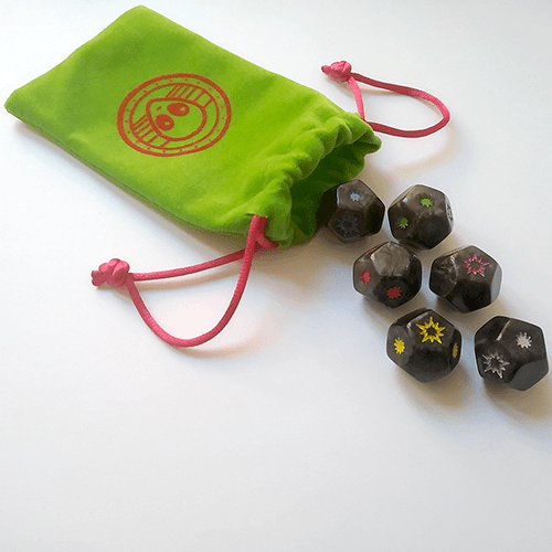 Kroom bag and colored dice Kaboom Universe expansion