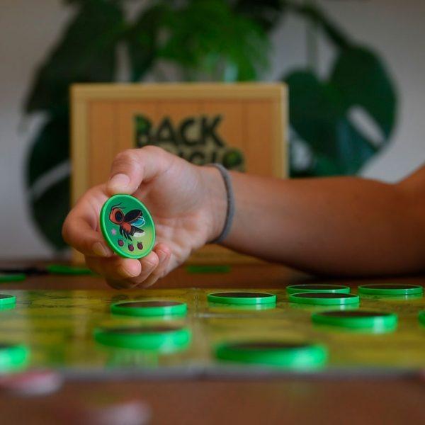 ficha detalle back to the jungle board game