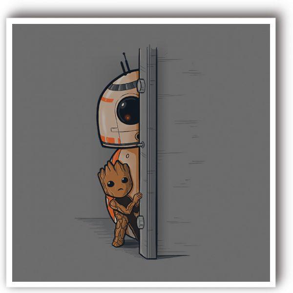 BB8 y Groot lamina de arte
