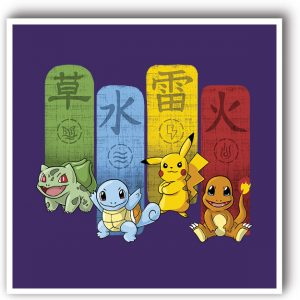 decorative art print pokemon
