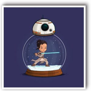 lamina original rey bb8 star wars