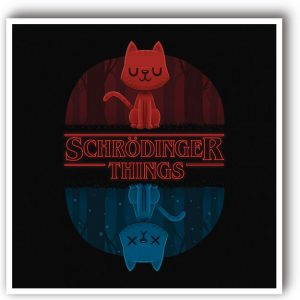 Schrodinger things original art print stranger things