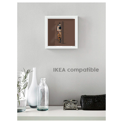 BB8 and Groot art print brown frame
