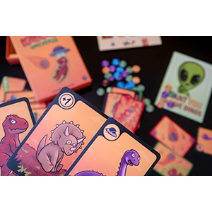 Kaboom Universe cartas dinosaurios