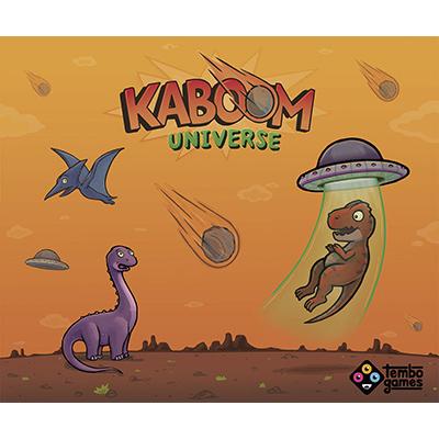 Kaboom Universe juego de mesa dinosaurios