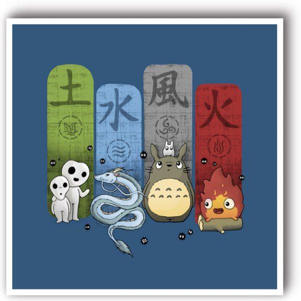 lámina decorativa Studio Ghibli